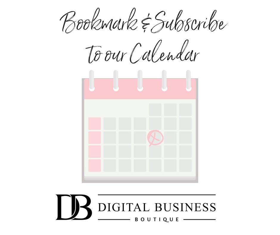 visit our calendar for our schedule of free training webinars facebook live schedule as well as events exclusive for the boutique members club
